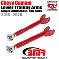 2016 -2020 Chevy Camaro Lower Trailing Arms, Single Adjustable, Rod Ends by BMR