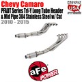 PFADT Series Tri-Y Long Tube Header & Mid Pipe 304 Stainless Steel w/Cat by aFe