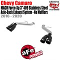 "MACH Force-Xp 3"" 304 Stainless Steel Axle-Back Exhaust System - No Mufflers by aFe"