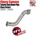 Twisted Steel Down Pipe 3 IN 304 Stainless Steel by aFe