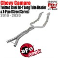 Twisted Steel Tri-Y Long Tube Header & X-Pipe 304 Stainless Steel w/ Cat by aFe