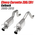 Chevy Corvette Z06/ZR1 7.0L Turbo Chambered Catback by Stainless Works