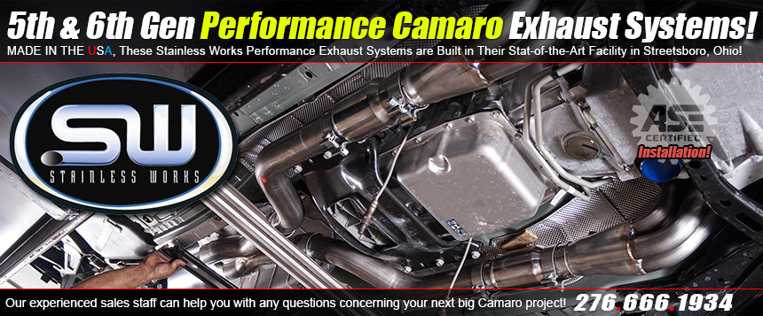 Stainless Works Camaro Exhaust Systems at MMXLTX.com!
